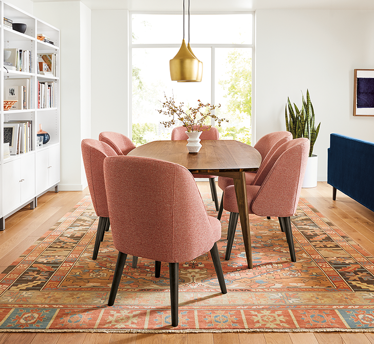 Cora chairs and Ventura dining table