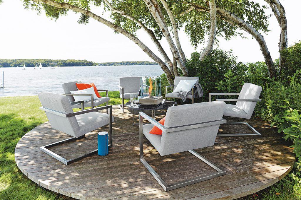 Finn chairs outdoors
