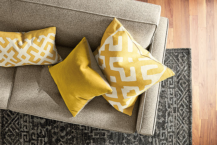 Maze and Mohair accent pillows