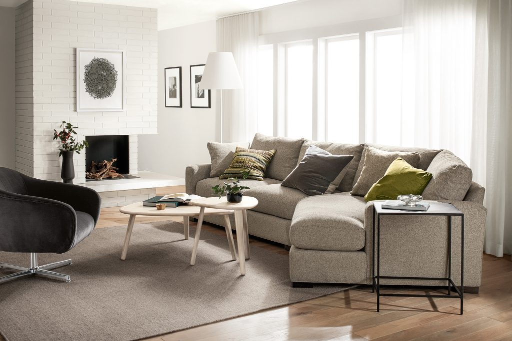 Metro sectional and Carlo chair