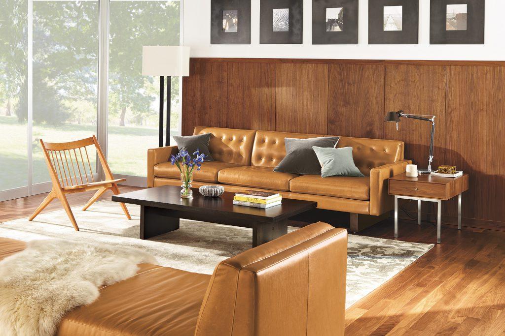 Wells sofa with Oskar lounge chair