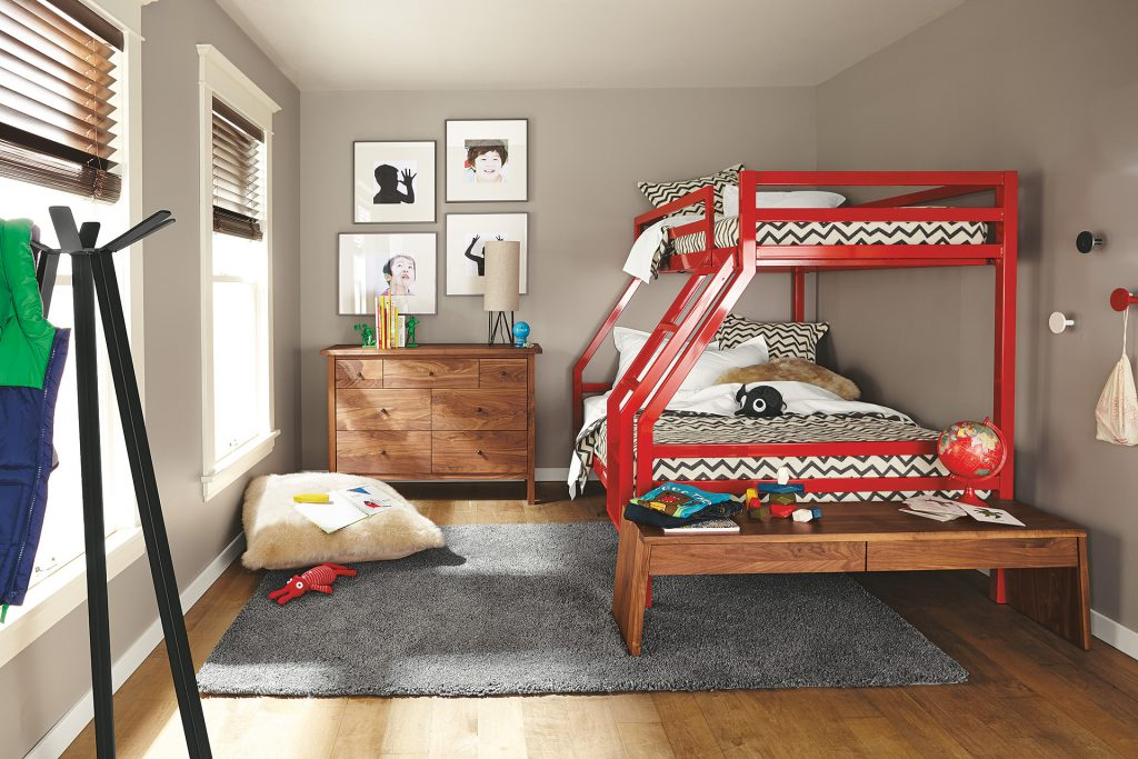 Fort Duo bunk bed with Utility coat rack