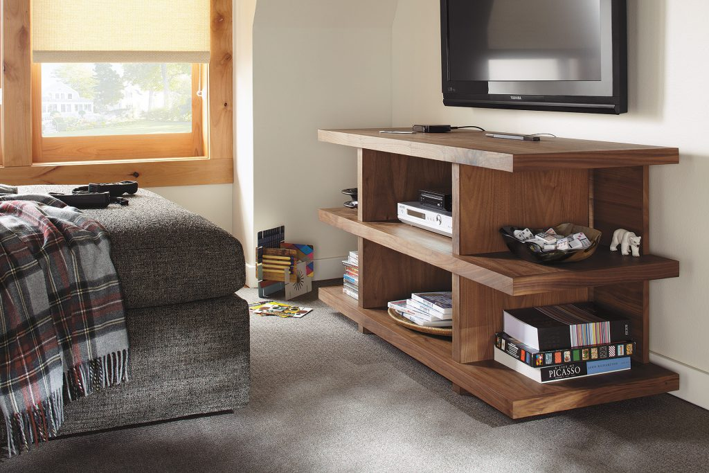 Graham media console in bedroom