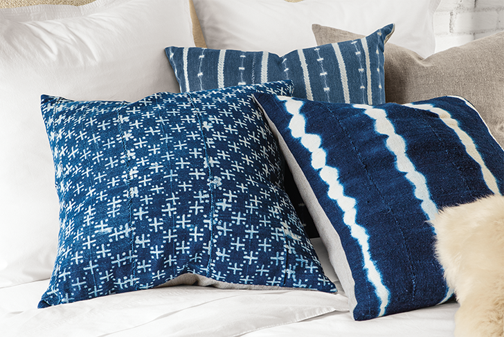 One-of-a-kind finds: Gouro African textile pillows