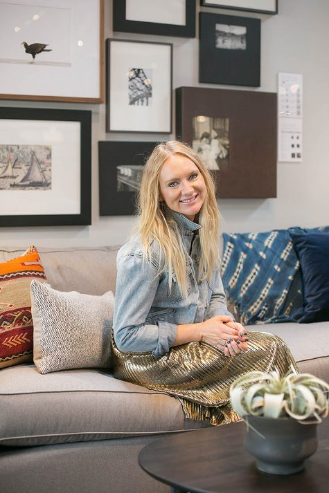 Kirsten at the store event with her styled vignette