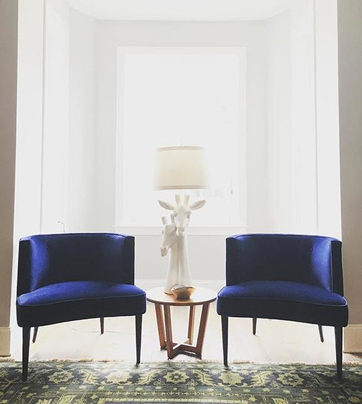 Two Chloe chairs in living room