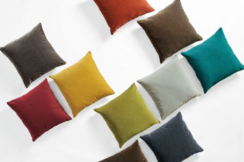 Mohair pillows in a range of colors