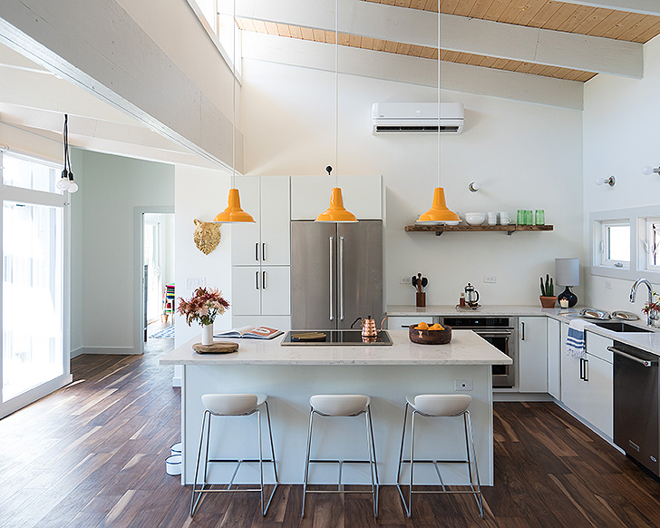 Leo counter stools in Theron's kitchen