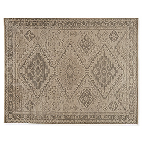 Marquise rug adds timeless pattern.