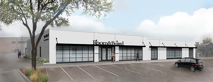 Room & Board Dallas store rendering
