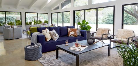 Oasis sofa in Gillespie sunroom