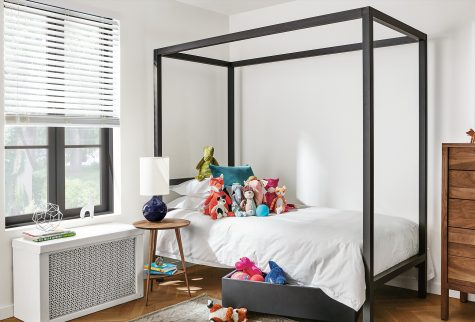 Architecture natural kids steel bed in twin