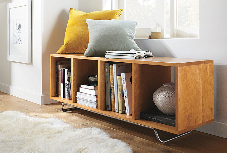 Ferris cubby bench in living room