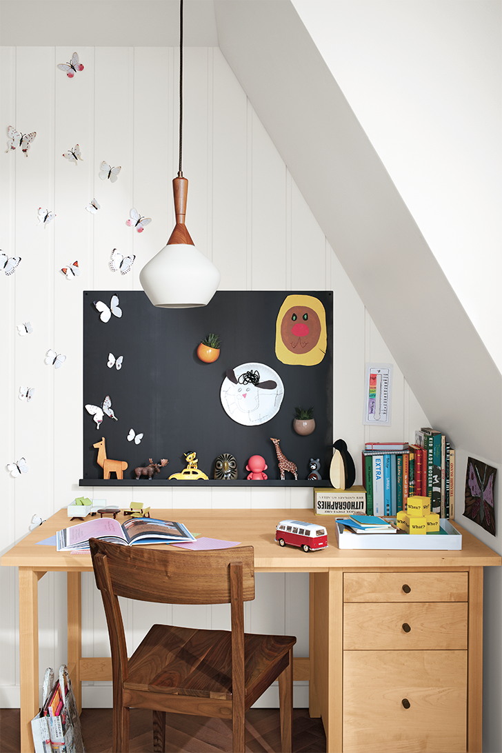 products we love for kids' rooms: Magnetic Agenda board above kids desk