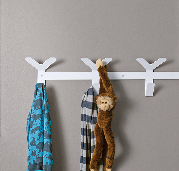 products we love for kids' rooms: Crew wall hooks in kids room