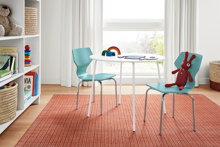 products we love for kids' rooms: Digby kids table with Perch chairs