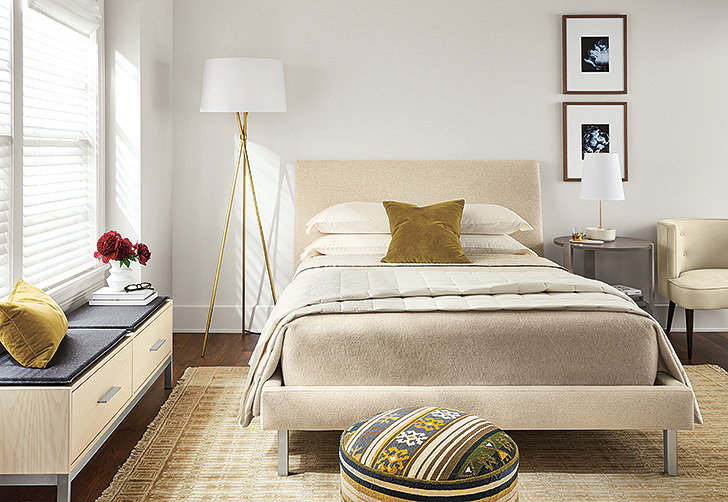 Neutral bedroom with Ella bed