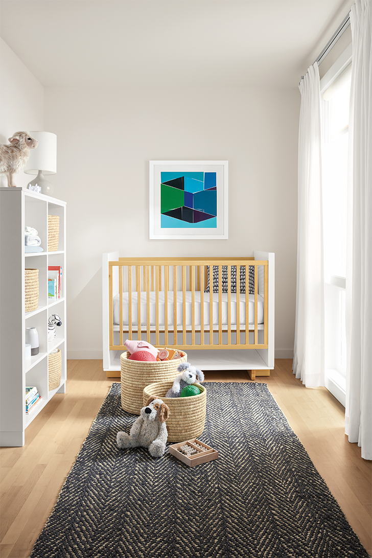 products we love for kids' rooms: Bangla storage baskets in nursery