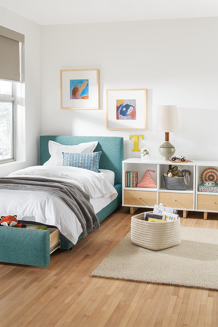 products we love for kids' rooms: Kori storage baskets in Moda storage cubby