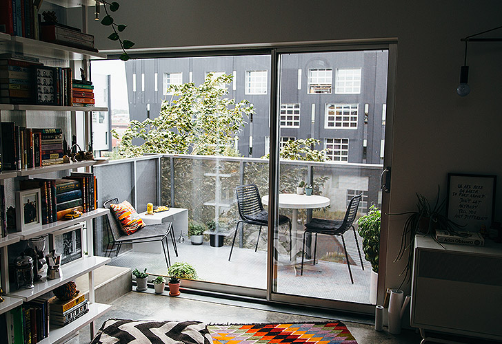 Small space balcony in Oh, Ladycakes' Denver apartment
