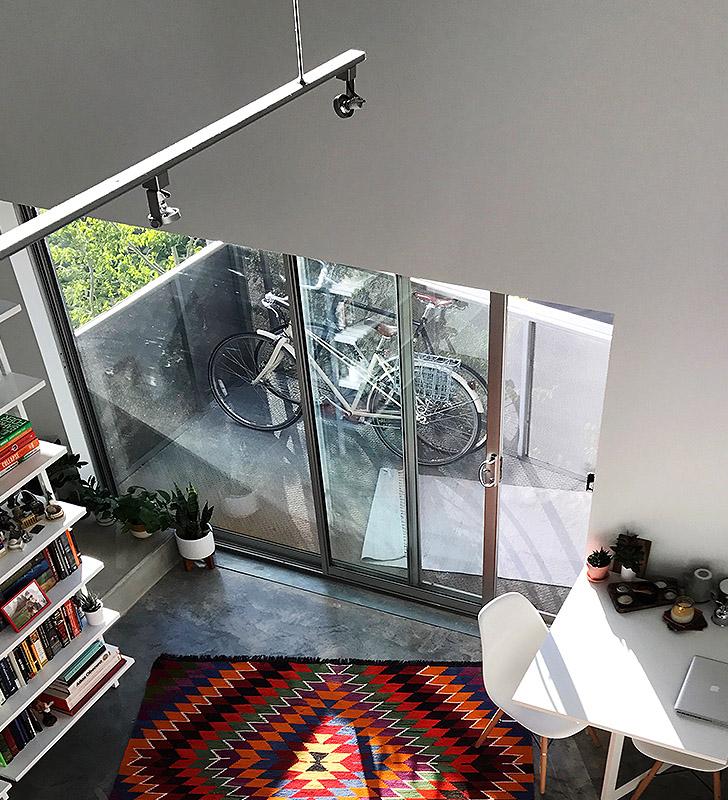 small space balcony pre-furniture