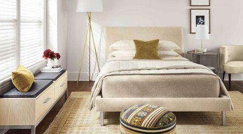 Ella bed modern bedroom in light colors