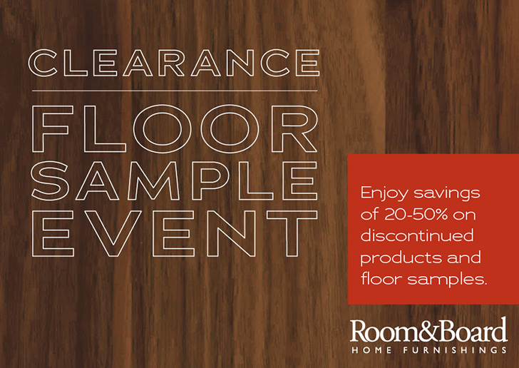 Room & Board Clearance and Floor Sample Sale