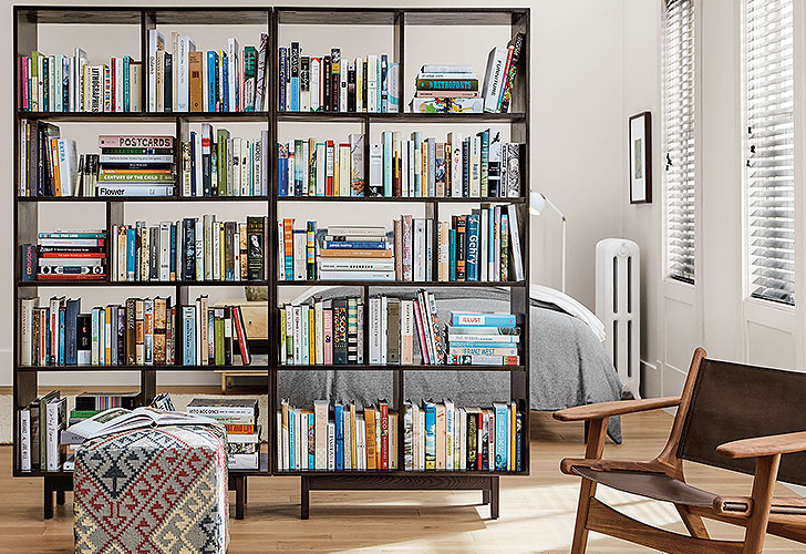 Dahl bookcase to divide small spaces