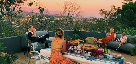 Outdoor patio in Los Angeles