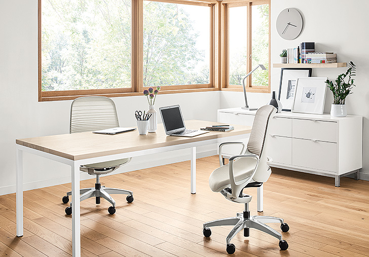 Modern furniture in home office