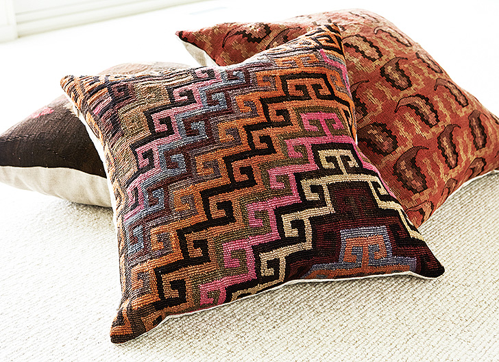 Ridvan throw pillow made from vintage rugs