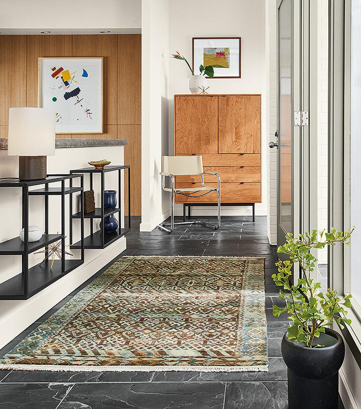Timuri custom rug for entryway