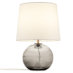Hand-blown glass table lamp