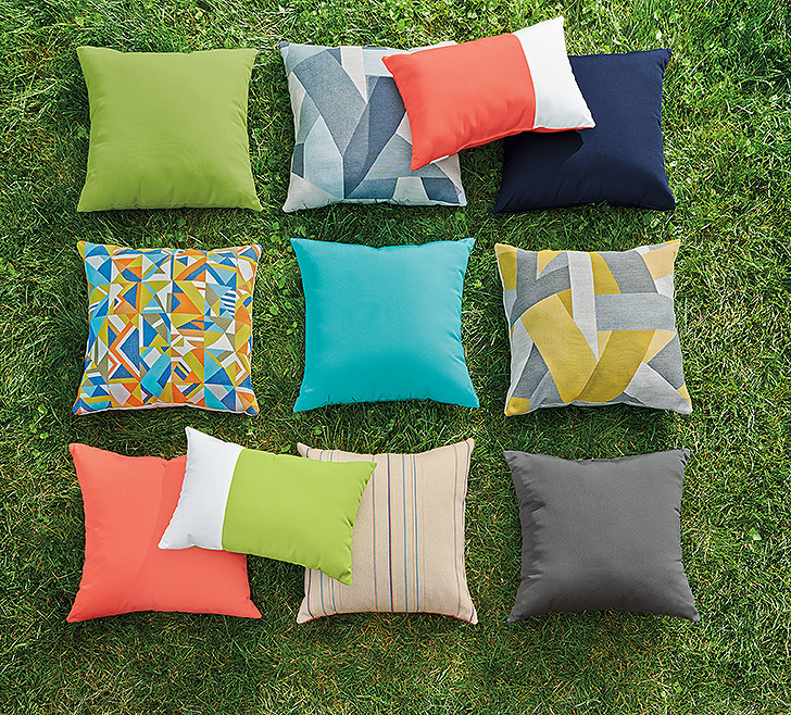 Colorful outdoor pillows