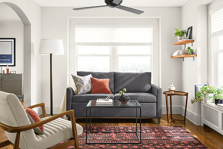 Allston sleeper sofa in small space living room