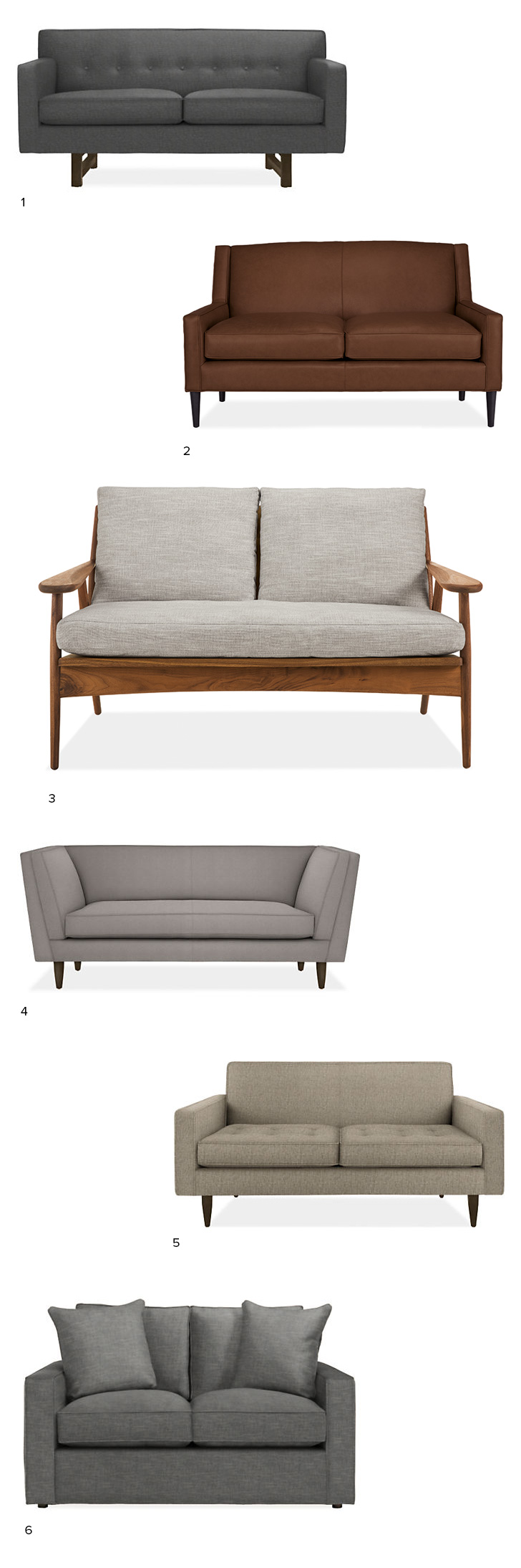 Modern Loveseat Roundup For Small Spaces Room Board