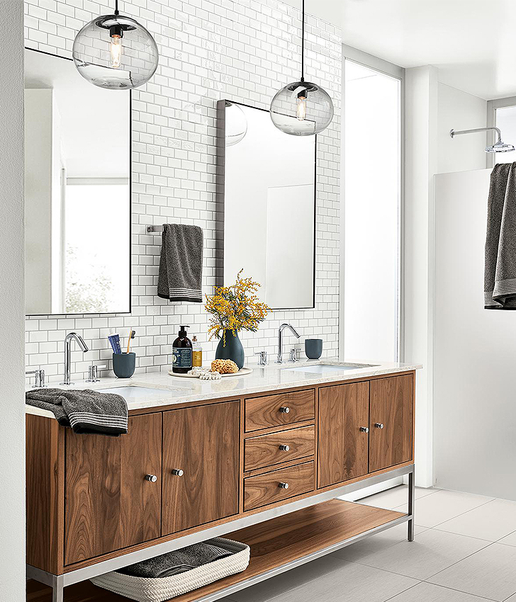 Pendants in bathroom lighting