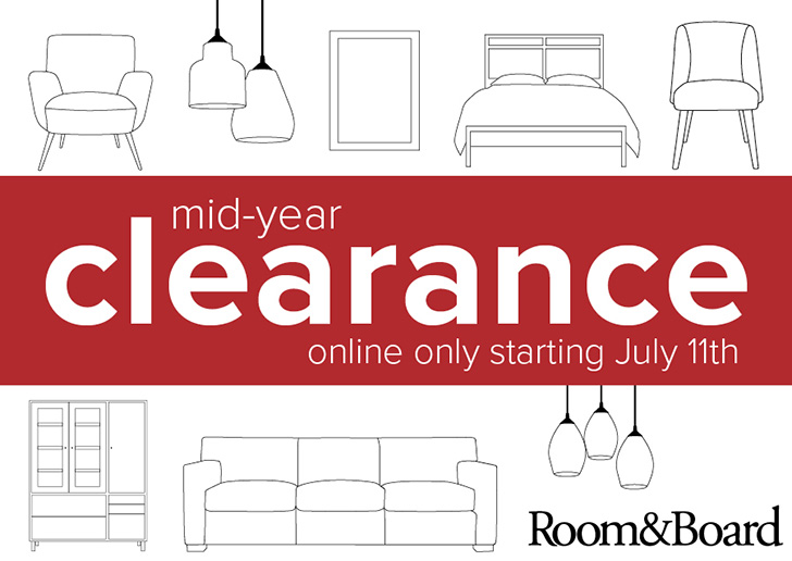 Mid Year Clearance At Room Board