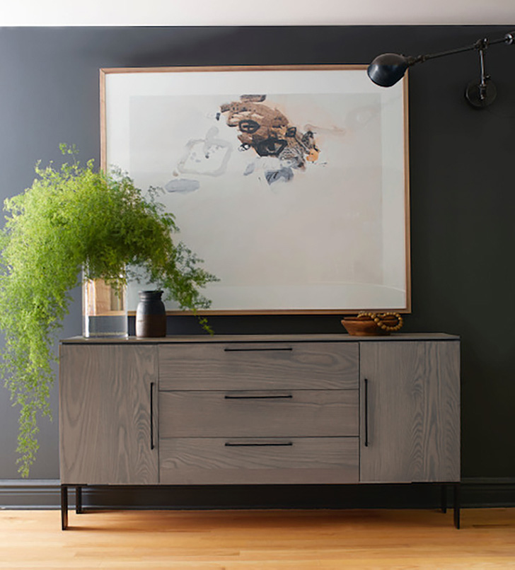 Kenwood storage console and Bergeonne artwork