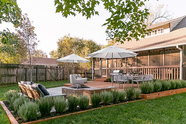 A view of Lisa Diederich's backyard