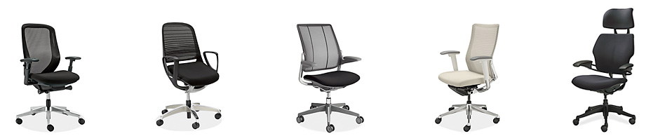 Innovative, ergonomic Humanscale® and Okamura office chairs ship for free.