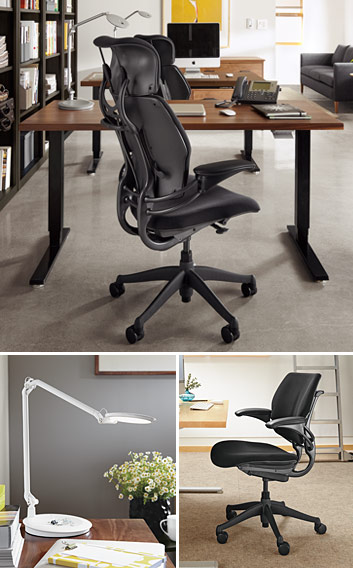 Collage of Humanscale products