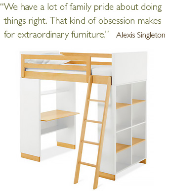 Moda loft bed and pull quote
