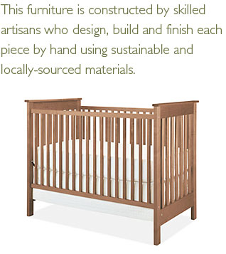 Nest crib and pull quote