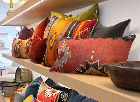 Our collection of one-of-a-kind décor is constantly changing and is available only in our stores.