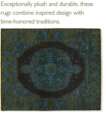 Exceptionally plush and durable, these rugs combine inspired design with time-honored traditions.