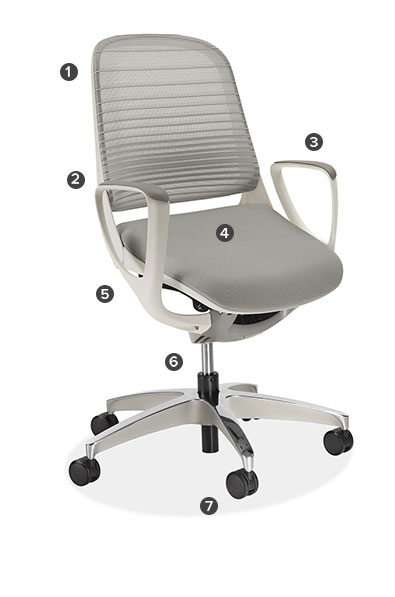 Luce Office Chair In White Modern Office Chairs Task Chairs - Work chair