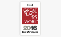 Retail Great Place to Work® 2016 Best Workplaces