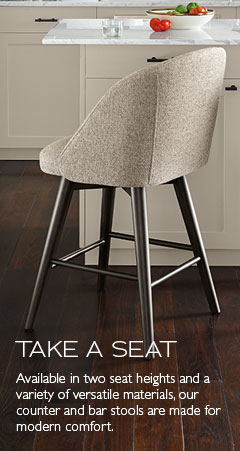 Afton Counter Stool with Fabric Seat