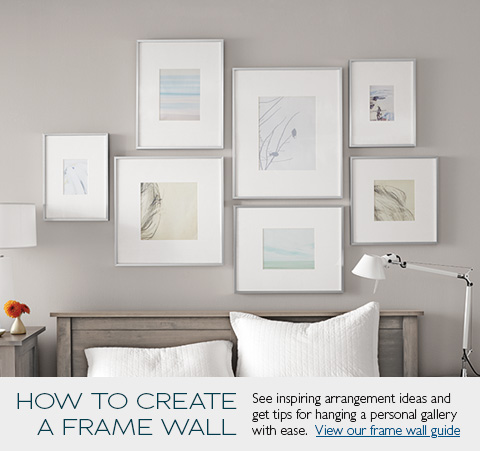 White Wall Frames modern picture frames - modern home decor - room & board
